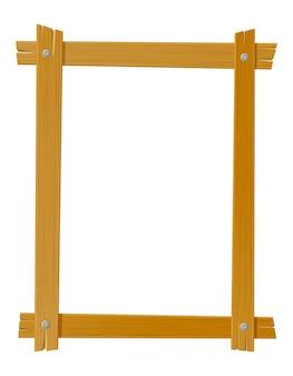 Деревянная рамка для картин, изолированные на белом
