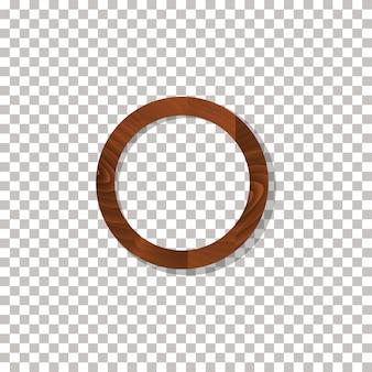 Деревянная рама на прозрачном фоне вектор.