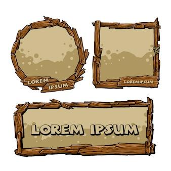 Wooden frame set
