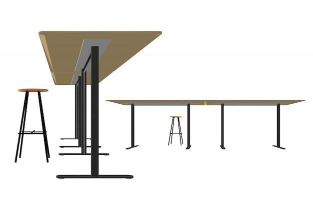 Wooden furniture vector