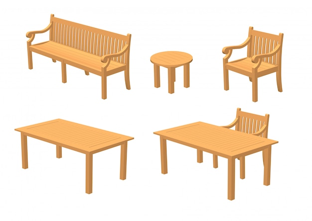 Wooden furniture and wooden tables