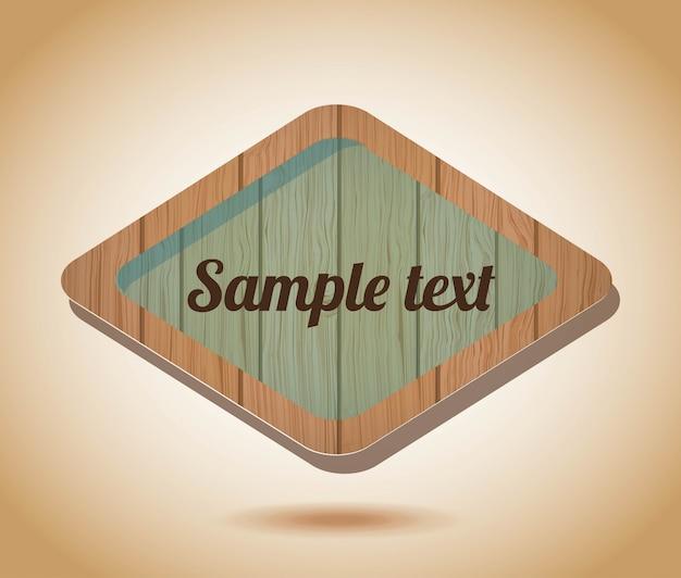 Wooden label  over vintage background
