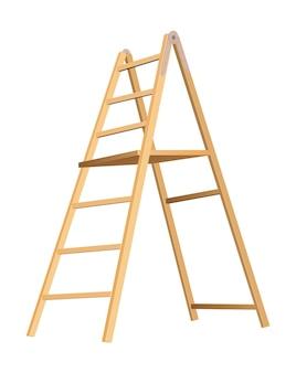 Wooden ladder household tool.