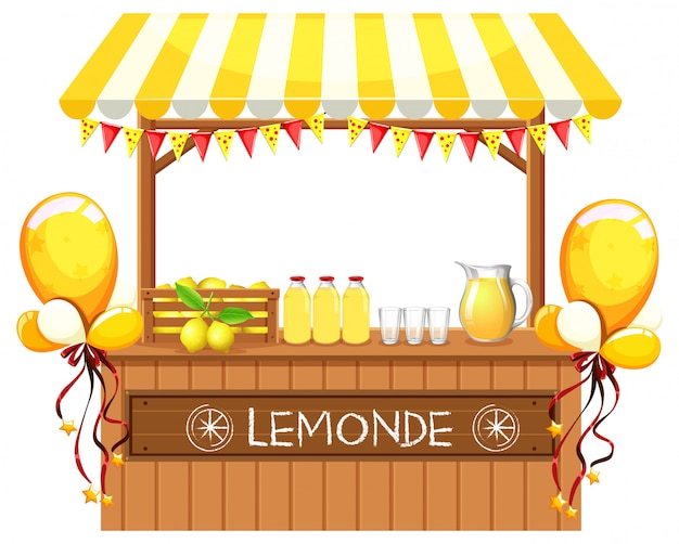 A wooden lemonade shop