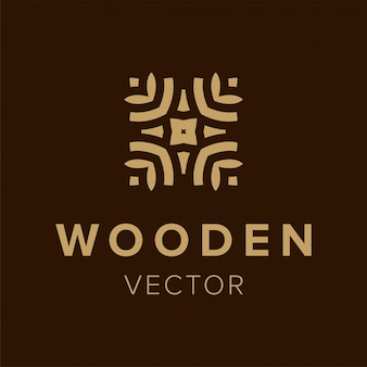 Wooden logo design. creative symbol element for business. template trendy icon.