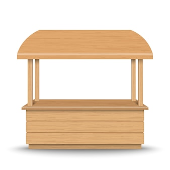 Wooden market stand stall