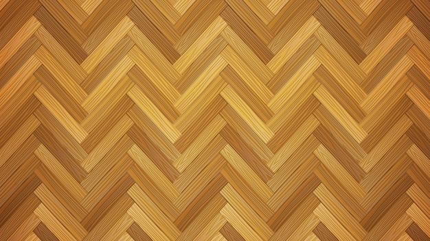 木製の寄せ木張りの床のテクスチャ、自然な現実的な木製のベクトルの背景