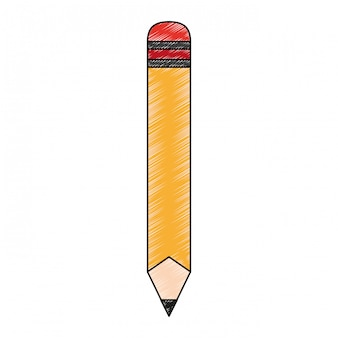 Wooden pencil cartoon scribble