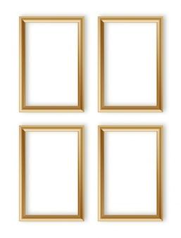 Коллекция деревянных фоторамок. 3d дизайн рамы для изображения или текста