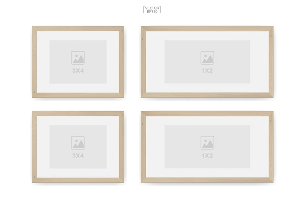 Wooden photo frame or picture frame for interior design and decoration