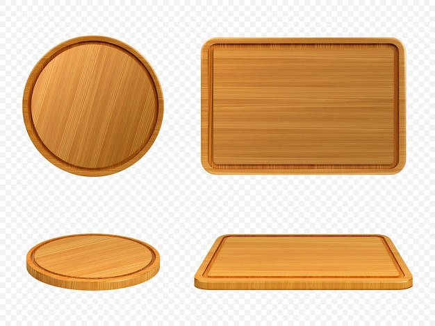 Wooden pizza and cutting boards