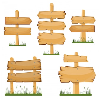Wooden pointers boards set