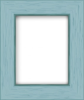 Wooden rectangular photo frame.