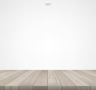 Wooden room space background.