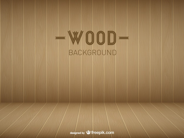 Wooden room template