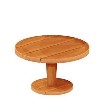 만화 스타일의 나무 원형 소박한 테이블 질감 가구