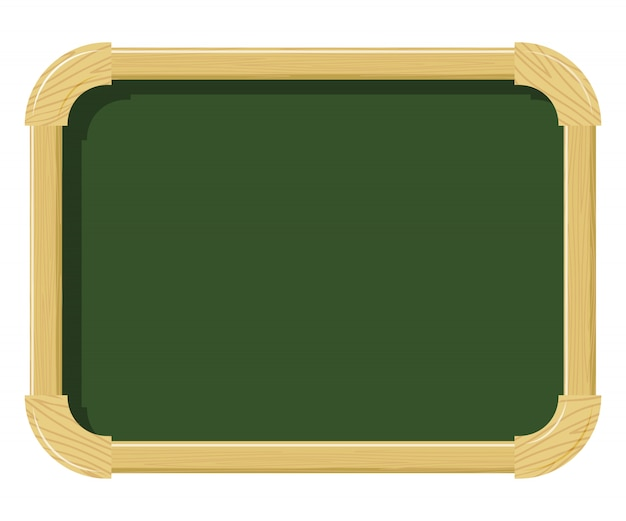 Wooden school chalk board with wood texture. free space for schoolwork. school supplies. subject of the school interior