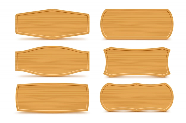 Wooden shapes set