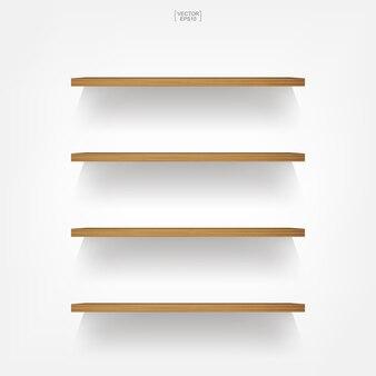 Wooden shelf.