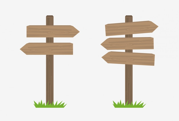 Wooden sign icon