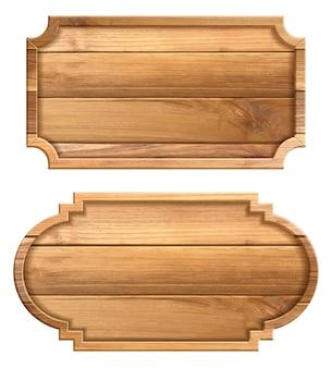 白い背景で隔離の木製看板