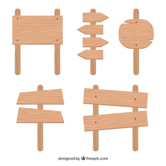 Wooden sign pack