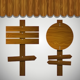 Wooden signals collection