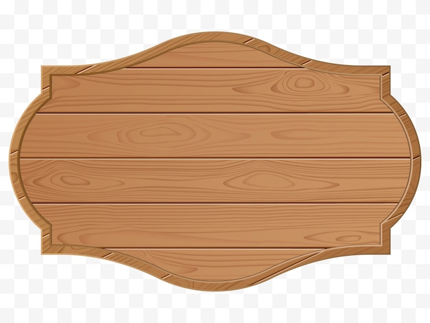 Wooden signboard isolated. vector illustration