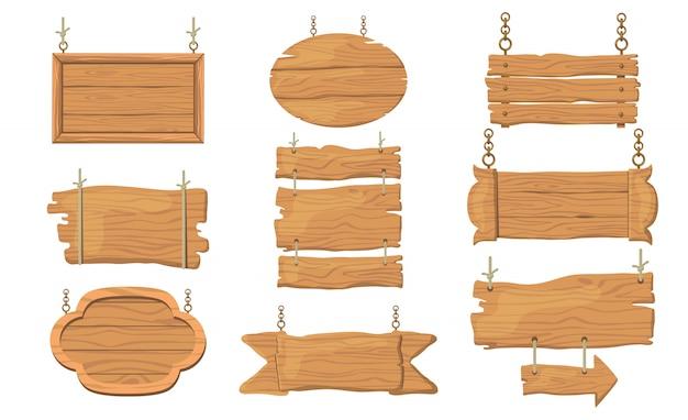 Набор деревянных знаков