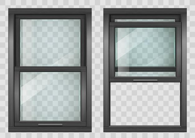 Wooden sliding window