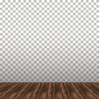 Wooden table on the transparent background