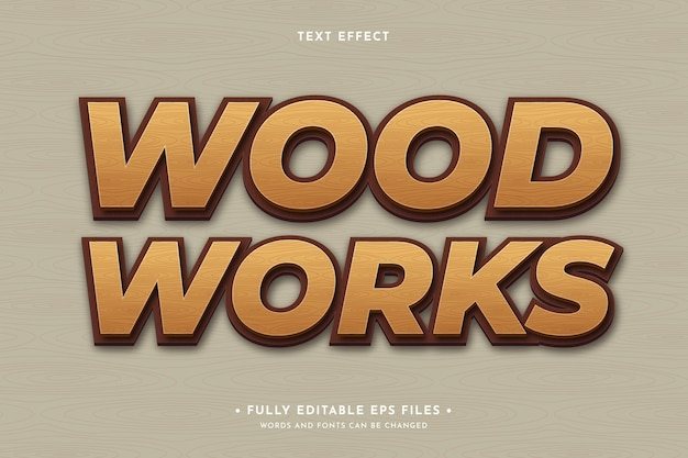 木製のテキスト効果