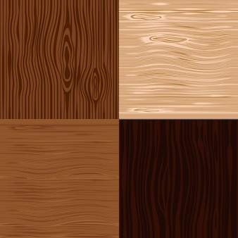 Wooden texture backgrounds set.