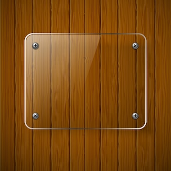Wooden texture with glass framework