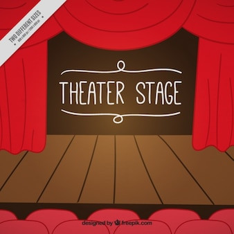 Wooden theater stage background