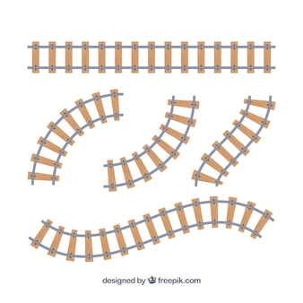 Wooden train track collection