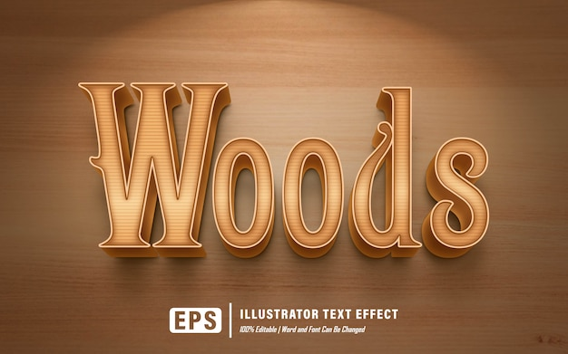 Woods text effect - editable
