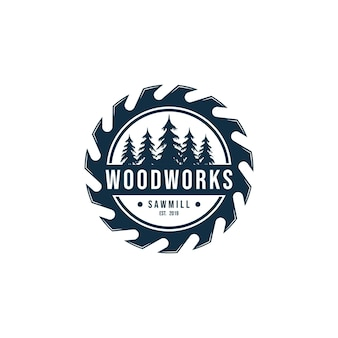 Элемент вектора синхронизации шаблона дизайна логотипа деревянного снаряжения изолирован