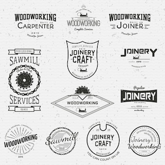Woodworking badges