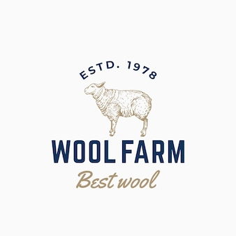 Wool farm abstract sign, symbol or logo
