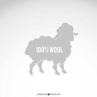 Wool sheep silhouette
