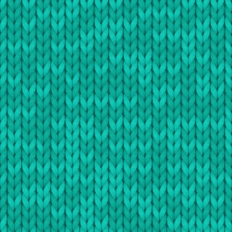 Wool turquoise color texture background. seamless knitted background
