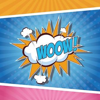Woow концепция поп-арт концепция