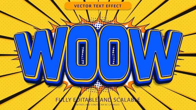 Текстовый эффект woow редактируемый файл eps
