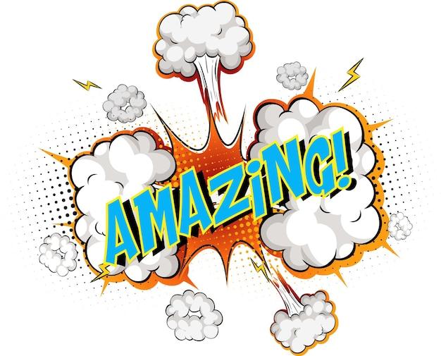 Word amazing on comic cloud