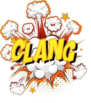 Word clang on comic cloud