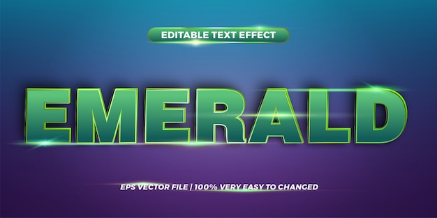 Word emerald - editable text effect