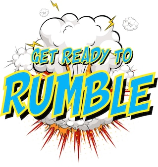 Word get ready to rumble on comic cloud