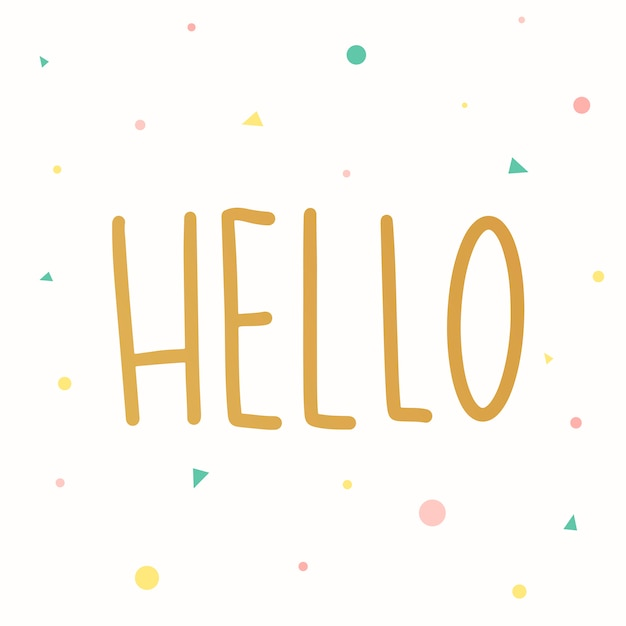 The word hello typography vector