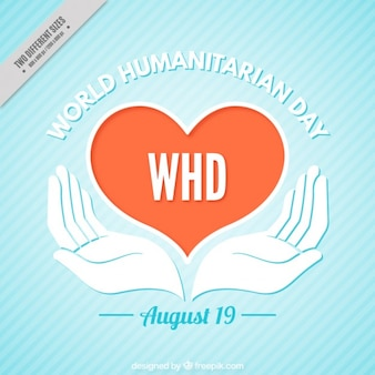 Word humanitarian day background
